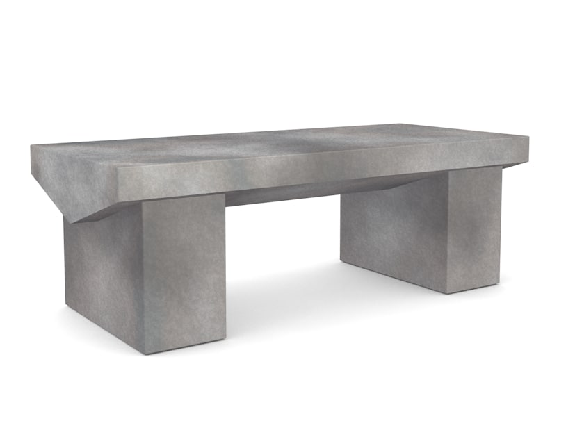 small stone park bench c4d