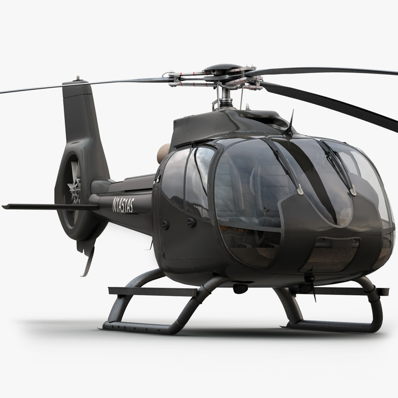 3d model eurocopter ec 130 private
