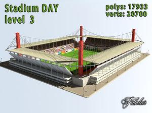 3d model stadium level 3