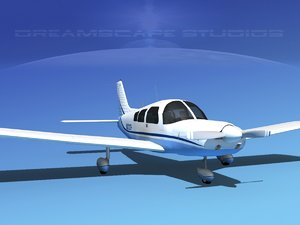 propeller piper pa-28 pa-28-235 3d dwg