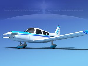 3d model propeller piper pa-28 pa-28-235