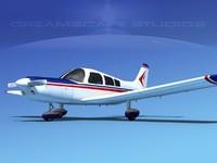 propeller piper pa-28 pa-28-235 3d model