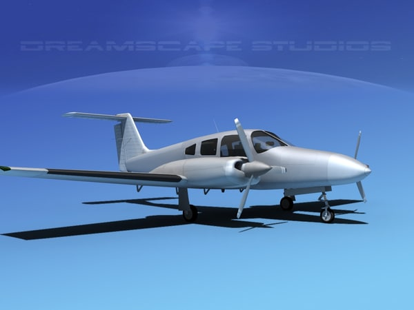 piper seminole pa-44-180 3d model