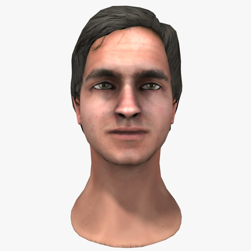 3d model adult male head