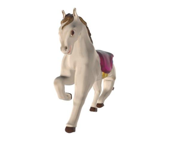 white horse 3d max