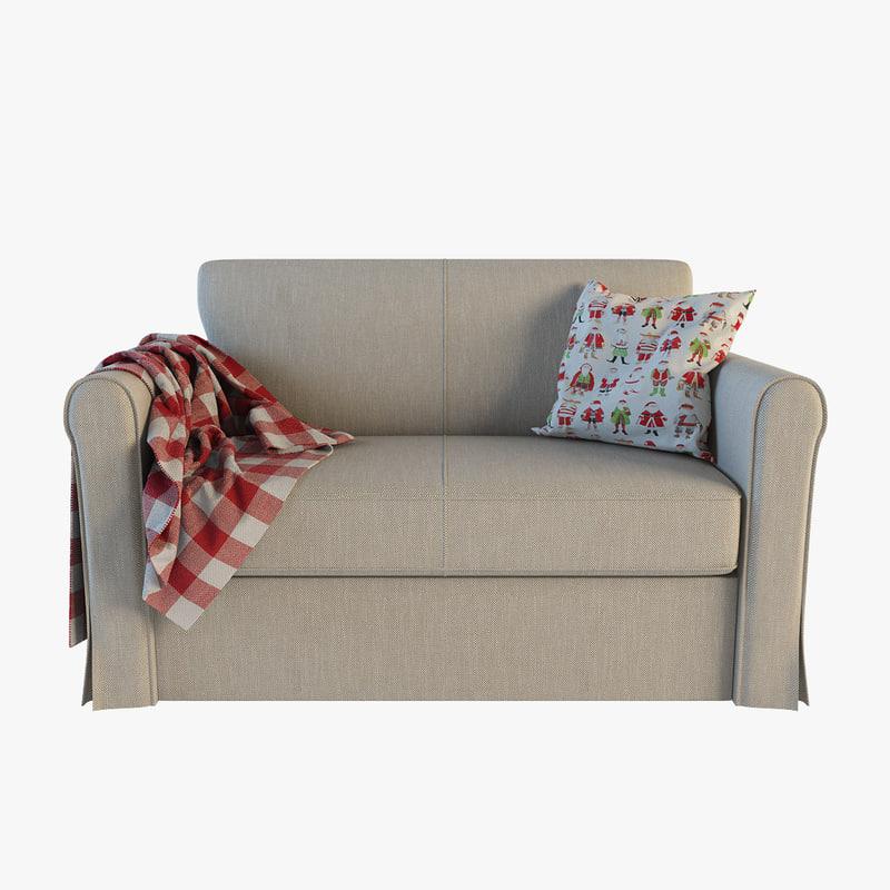 3dsmax ikea hagalund sofa