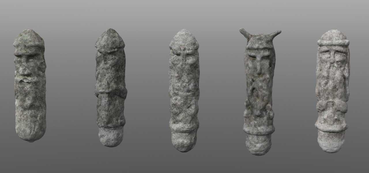 3d set 5 pagan idols model