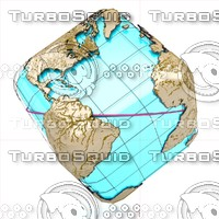 Wire Globe Earth CUBE