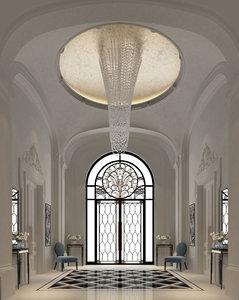 classic entrance lobby 2013 3d max