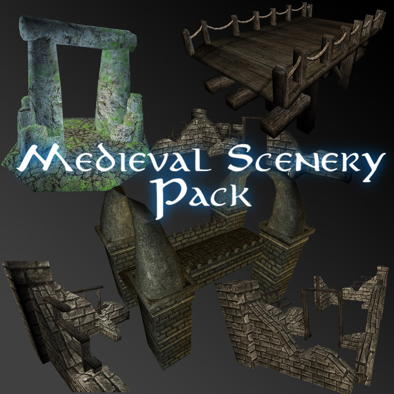 medieval scenery 3ds