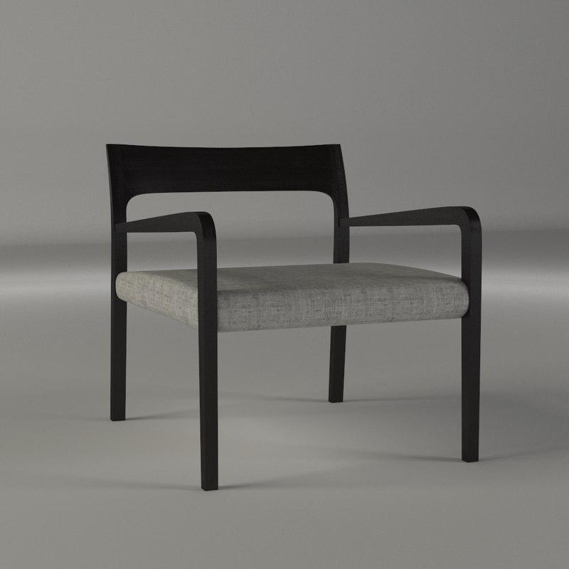flip chair 3d fbx