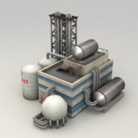 Lowpoly chemical factory