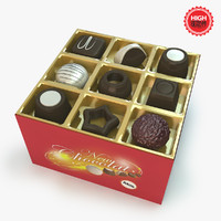 chocolates box 3d c4d