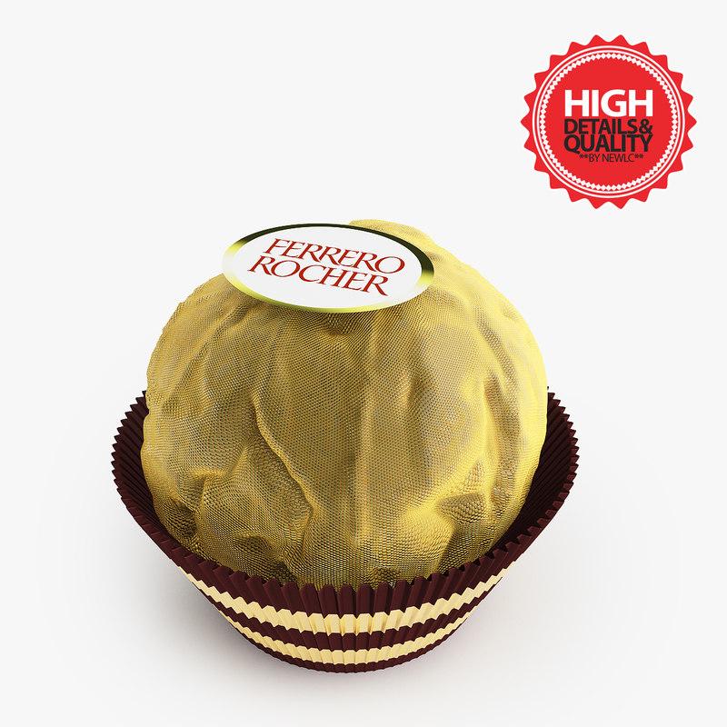 3d model ferrero rocher chocolate