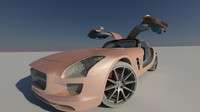Mercedes Benz SLS AMG (Rigged)