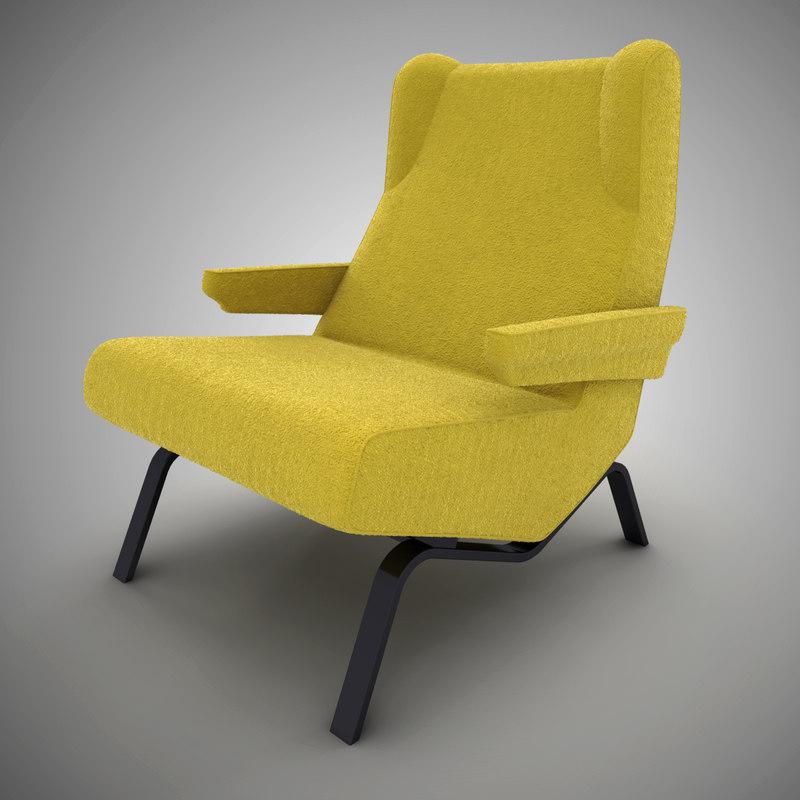 3d armchair ligne roset archi model