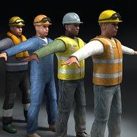 workmen workers 3ds