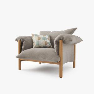 3d jardan wilfred chair model