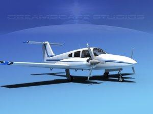 3d model propeller piper seminole