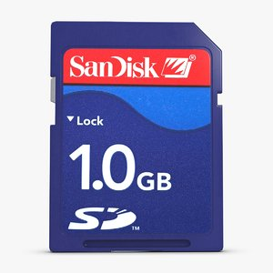 sd card 1 gb 3d model