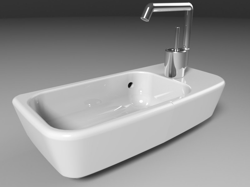 small sink 3d model