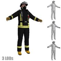Fireman 1 LODs