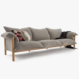 3d model of jardan wilfred sofa