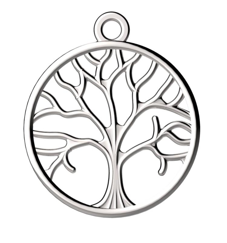tree pendant jewelry 3d model