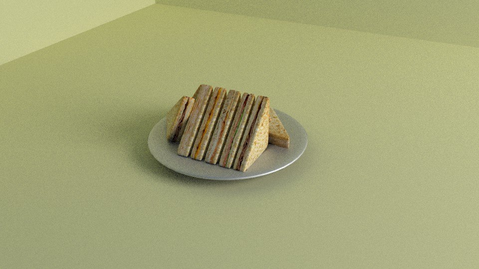 3d model of sandwiches