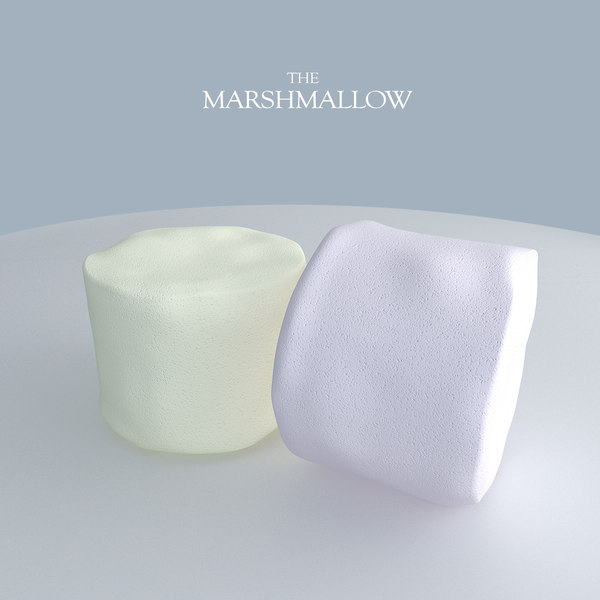 marshmallow candy 3d model