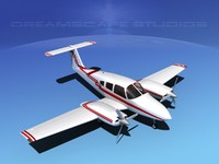 3d model piper seminole