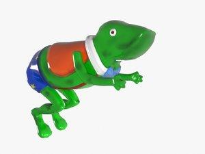 cartoon frog 3d max