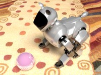 3d robot aibo cat