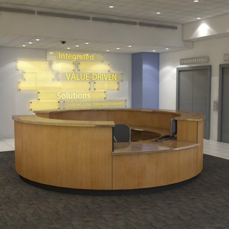3d model corporate lobby