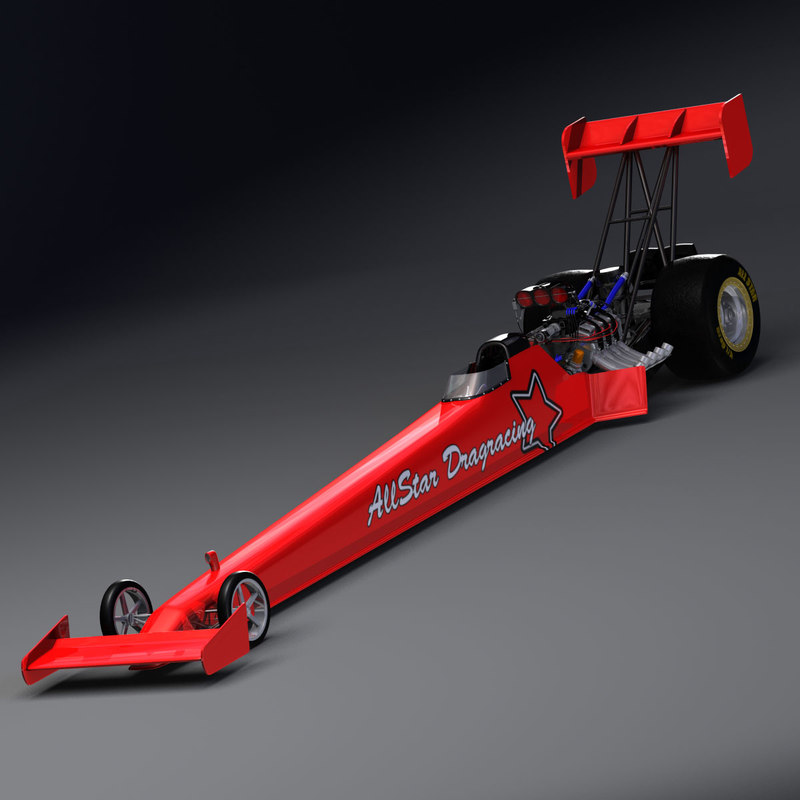3d fuel dragster
