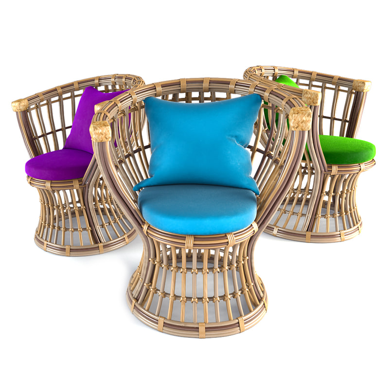 mazenetti rattan furniture 3d max