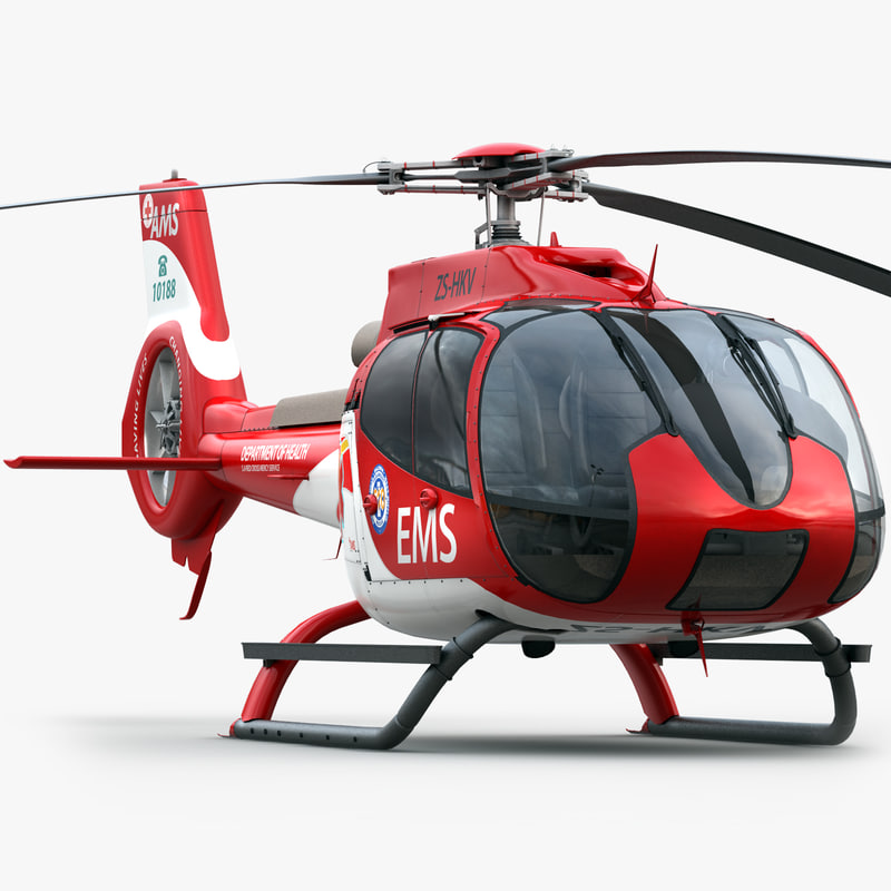 eurocopter ec 130 medical 3d obj