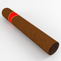 3d cuban cigar model
