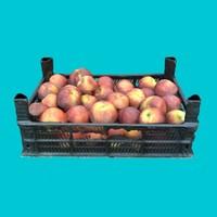 3d model crate peaches -