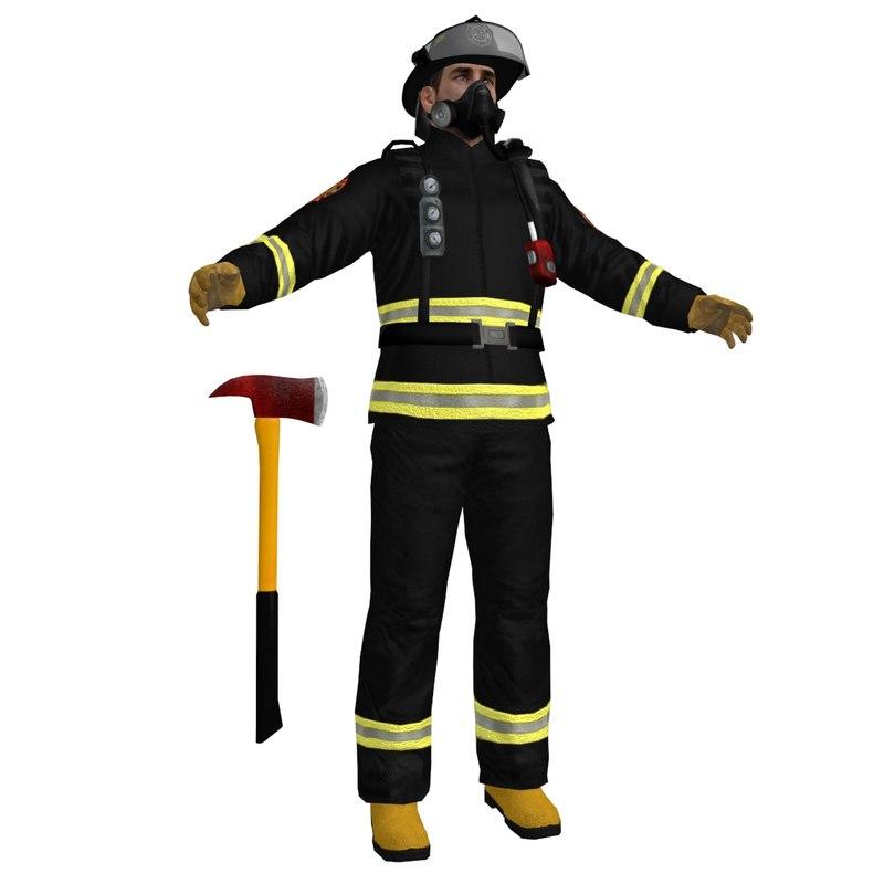 fireman ready 3d max