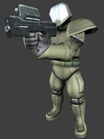 space soldier 3d model