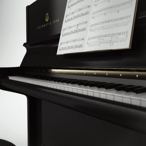 obj piano chair musical notes