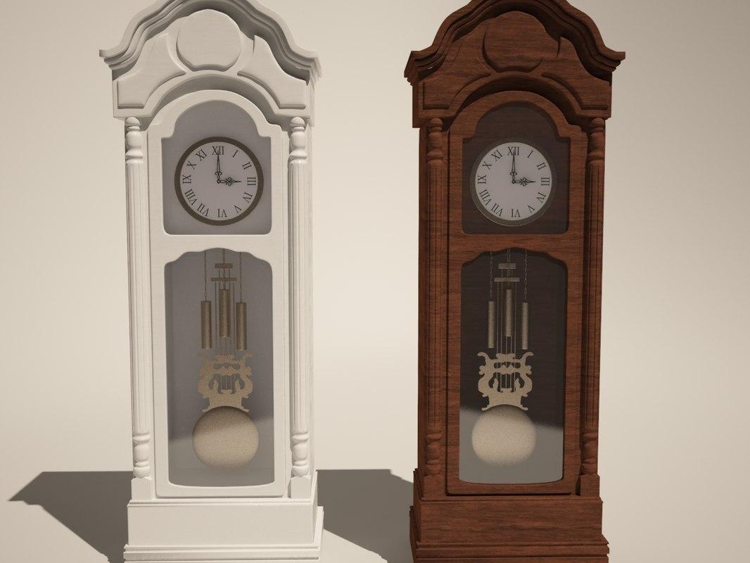 grandfather clock obj