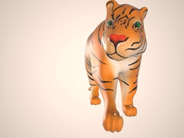 3d model tiger