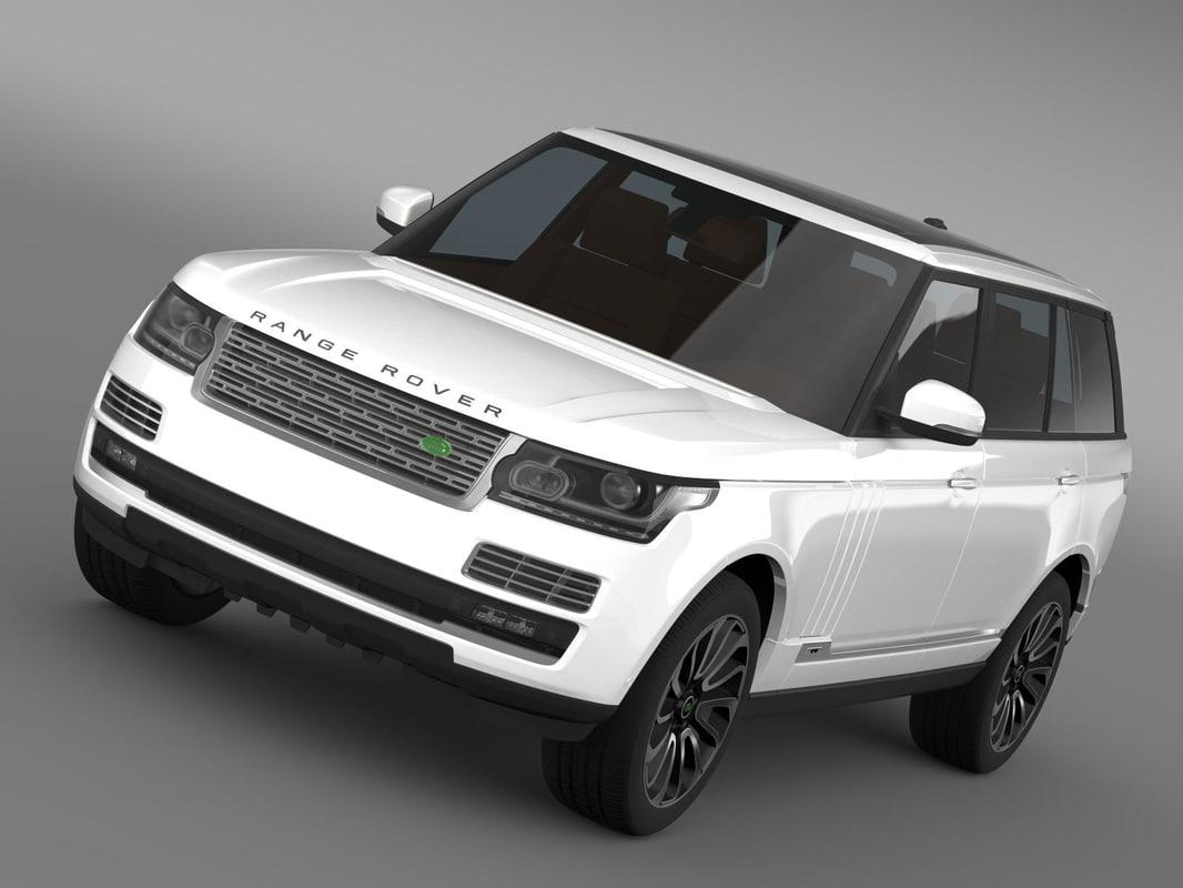 3d model range rover autobiography lwb