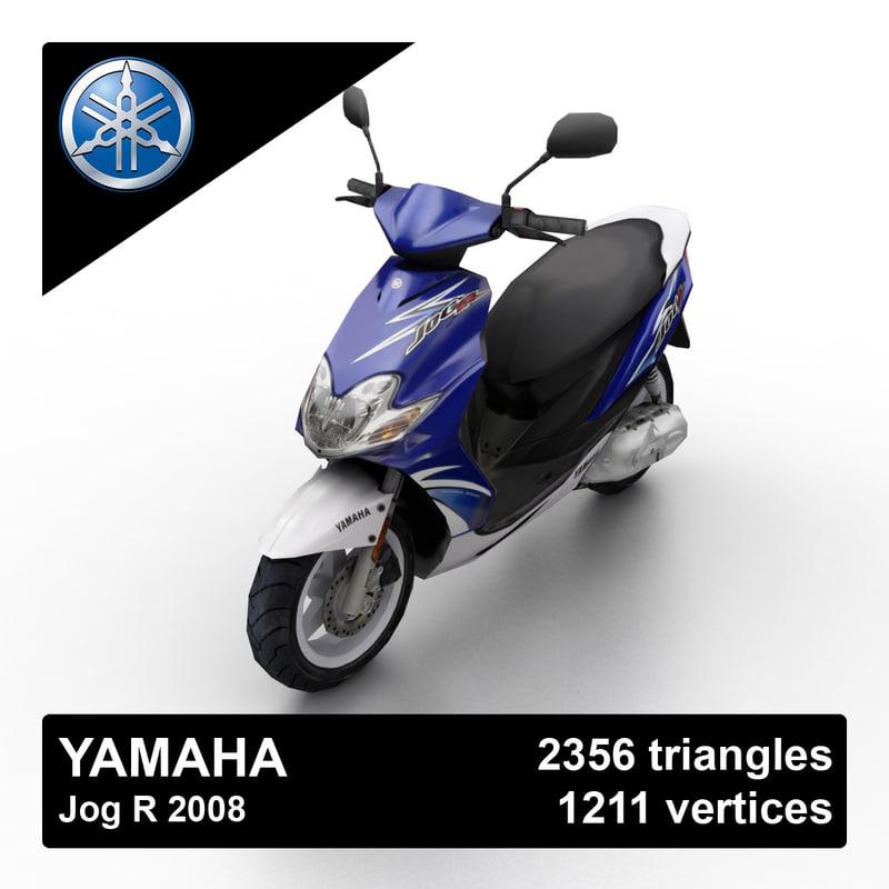2008 yamaha jog r 3d model