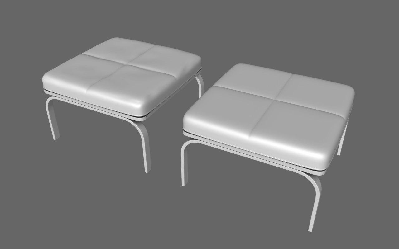 free stool taboret 3d model