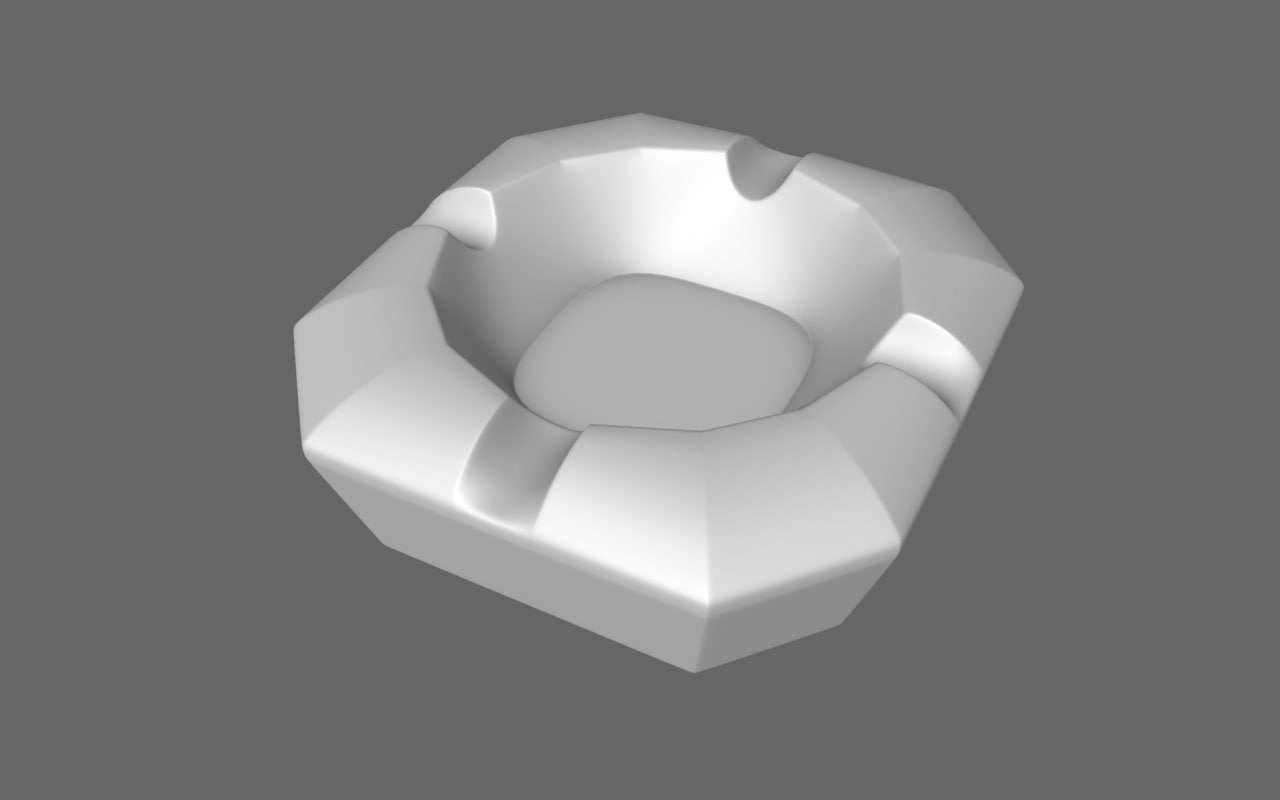 free ashtray ash tray 3d model