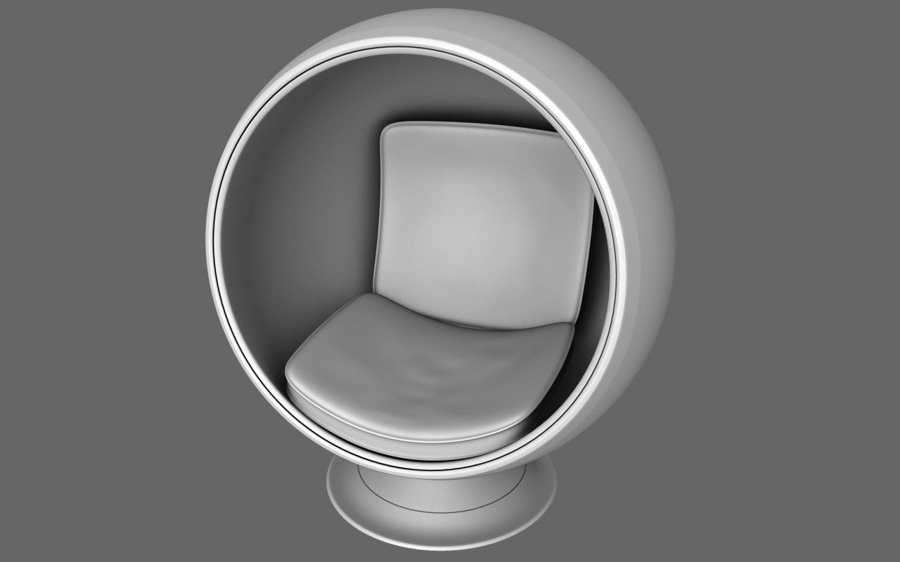 ball seat 3d obj