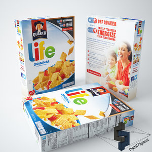 original life cereal box 3d 3ds